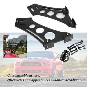 """10""""Car Tail Spoiler Stand Rear Wing Trunk Racing Legs Mount Brackets Bolt-on"""