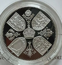 More details for gb 2014 the first birthday of prince george silver proof 5 pounds  box + coa