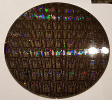 """New listing Rare 8"""" Ic Microchip Silicon Pattern Wafer with Most Advanced Cobalt Technology"""