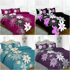 Lynda Floral Luxury Duvet Covers Quilt Covers Reversible Bedding Sets All Sizes
