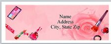 Personalized Address Labels Cosmetics Rose Background Buy 3 get 1 free (P 578)