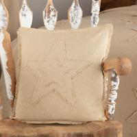 BURLAP VINTAGE STAR Accent Throw Pillow Primitive Farmhouse Rustic VHC Brands