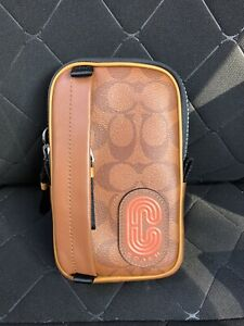 Coach Colorblock NS Hybrid Phone Pouch 91259 - Russet brown