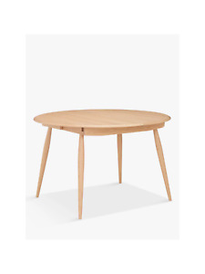 John Lewis Ercol Shalstone 4-6 Seater Extending Round Dining Table, Oak RRP £899