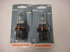 Lot of 2 Sylvania 9004 basic car headlight bulb light lamp