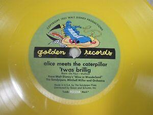 Vintage 1951 78 Disney Golden Record Alice In Wonderland RD23