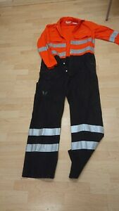 Ladies Or Mens Safety Proban Use Orange Colour Boilersuit Or Overalls.
