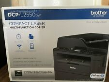 New Brother DCP-L2550DW Compact Monochrome Laser Multifunction Printer - Black
