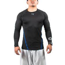 Men's PUMA Long Sleeve Performance Tee T-Shirt Black size S (T118) $65