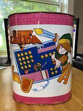 RARE Vintage Retro 1988 Nintendo Legend Of Zelda Trash Can NES Link Videogames