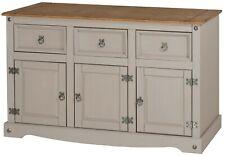 Corona Grey Wax Sideboard 3 Door 3 Drawer by Mercers Furniture®