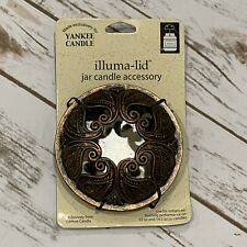 Yankee Candle Antique Bronze Paisley Illuma Lid Topper New on Card