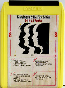 KENNY ROGERS & THE FIRST EDITION Tell It All Brother  8 TRACK TAPE  CARTRIDGE