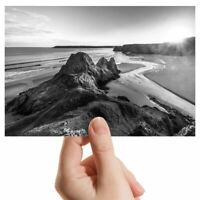 "Photograph 6x4"" BW - Three Cliffs Gower Peninsula Wales  #37291"