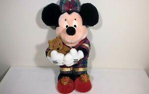 "Vintage Disney Store / Christmas Pyjamas Minnie Mouse 12"" Plush / Soft Toy"