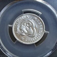 1963 Australian Proof One Shilling Coin - PCGS Graded PR67 - Low Mintage 5042