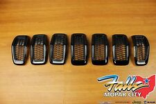 2014-2017 Jeep Cherokee Gloss Black Front Grille Grill Inserts Mopar OEM