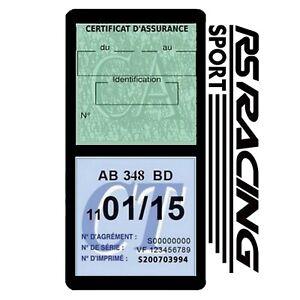 Porte vignette assurance RS Racing Ford Focus double étui Stickers auto rétro