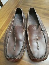 Men's Size 12 Medium Clark's Brown Leather Slippers style 77898