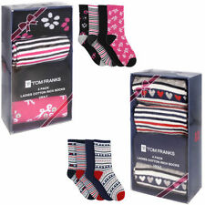 Cotton Blend Striped Machine Washable Socks for Women
