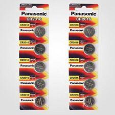 Panasonic CR2016 3V Lithium Battery 2PACK X (5PC) =10 Single Use Batteries