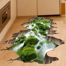 Boden Wand Aufkleber Decal abnehmbar Sticker/Bad/Wandtattoo 3D Bach Fluss Teich~