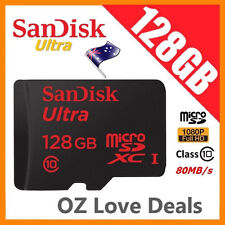 SanDisk 128 GB Ultra Micro SD SDXC 80MB/s UHS-1 Class 10 Memory Card Full HD