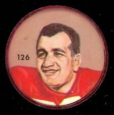 1963 CFL NALLEY'S POTATO CHIP FOOTBALL COIN 126 DON LUZZI CALGARY STAMPEDERS EX+