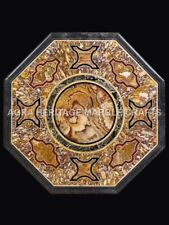 """24"""" Traditional Marble Coffee Bedroom Table Top Inlay Design Decor Hallway H5061"""