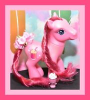 ❤️My Little Pony G3 Soda Float 2006 Red Pink Root Beer Pony Tinsel Mane❤️