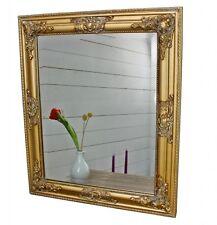 Spiegel 62x52 cm Wandspiegel barock gold Holz Landhaus Holzrahmen Badspiegel
