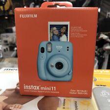 Fujifilm Instax Mini 11 Instant Film Camera - Sky Blue - Brand New In Box + Film