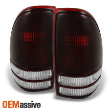 97-04 Dodge Dakota Pickup Dark Red Lens Tail Lights Brake Lamp Replacement Pair