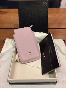 Montblanc Dock Leather Pink 109170 - Cell Phone Holder