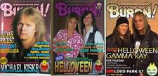 HELLOWEEN on COVER LOT of 3 Japan Magazines RARE!