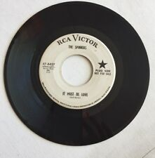 THE SPINNERS, IT MUST BE LOVE, PROMO 45 RECORD, 1964
