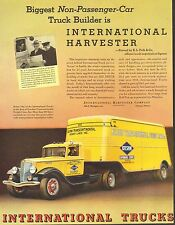 International Truck, Tractor Trailer, Vintage 1934 Antique Car Ad