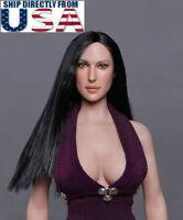 "1/6 American Female Head Sculpt GC020 A For 12"" PHICEN Hot Toys Figure U.S.A."