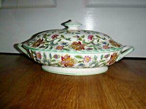 Minton Haddon Hall Lidded Vegetable Tureen ~ 1st ~ Slightly A/F