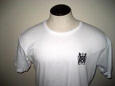 RVCA  Mens Crew neck Lions Gate Logo Tee Shirt Size Small White Black Free Ship
