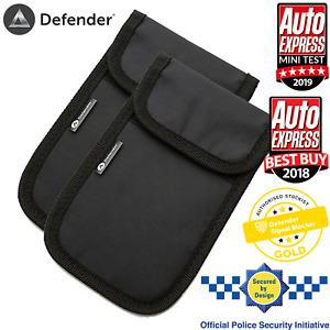 2 x Genuine Defender Signal Blocker Car key Signal Jamming Pouch Black UK Stock