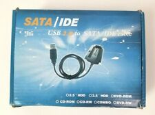"GENTLY USED USB 2.0 to SATA IDE 2.5"" 3.5"" External Adapter Transfer Cable Kit"