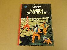 STRIP HERDRUK GEKARTONNEERD UIT 1958 / KUIFJE - MANNEN OP DE MAAN