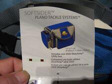 Plano SoftSider Freshwater Fishing 4 Pocket Tackle Bag Box & Strap 3380 Blue