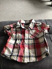 Excellent Condition Baby Gap Check Shirt Age 6-12 Months