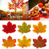 300Pcs Autumn Maple Leaf Fall Fake Silk Leaves Craft Wedding Party XMAS Decor🍁