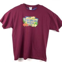 Disneys Caribbean Beach Resort Unisex Graphic T-Shirt Purple Short Sleeve Tee XL