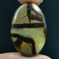 Cts. 39.45 Natural Madagascar Dragon Septarian Cabochon Oval Cab Loose Gemstone