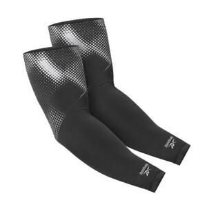Reebok Reflective Compression Arm Sleeves Pair Running Cycling Training