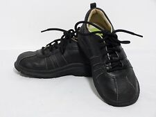 "Stride Rite Toddler Tech ""Barney"" Black Leather Oxford Lace Shoes Boys 9.5 M EUC"